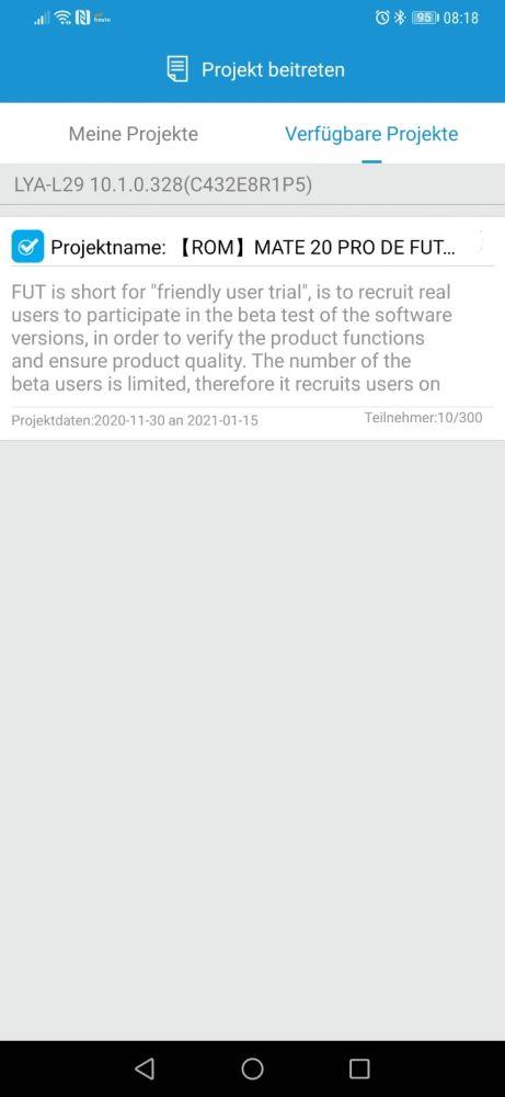 Mate 20 Pro EMUI 11 Beta