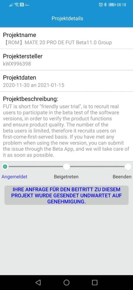 Mate 20 Pro EMUI 11 Beta 3