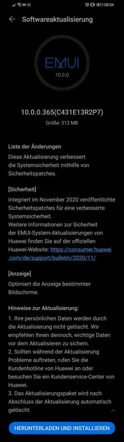Novemberpatch 2020