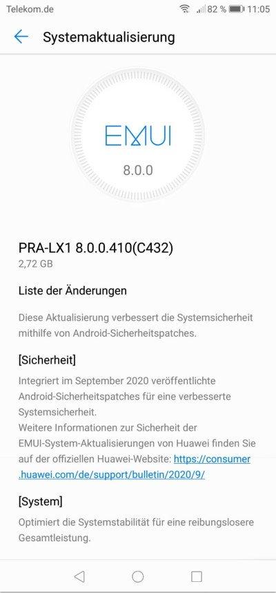 P8 lite (2017) - Septemberpatch 2020