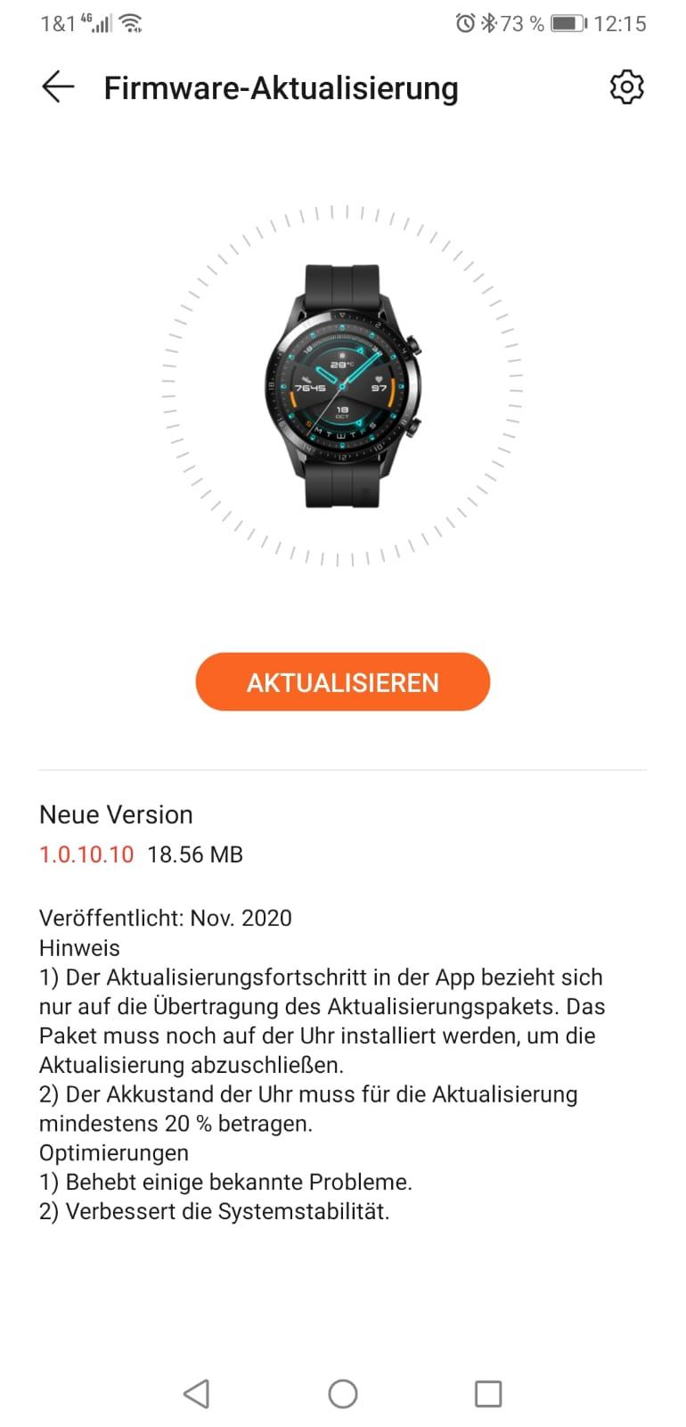Watch GT2 November-Update 2020