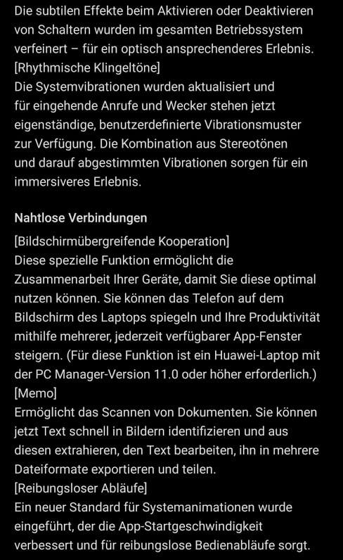 HUAWEI Mate Xs EMUI 11 Firmware Update Changelog