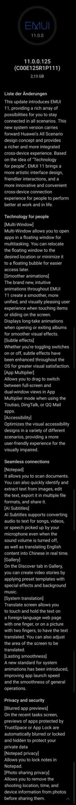 MediaPad M6 - EMUI 11 Update auch bei uns verfügbar 2