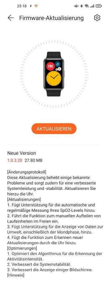 Watch Fit Update - neue Version bringt Seilspring-Modus 2