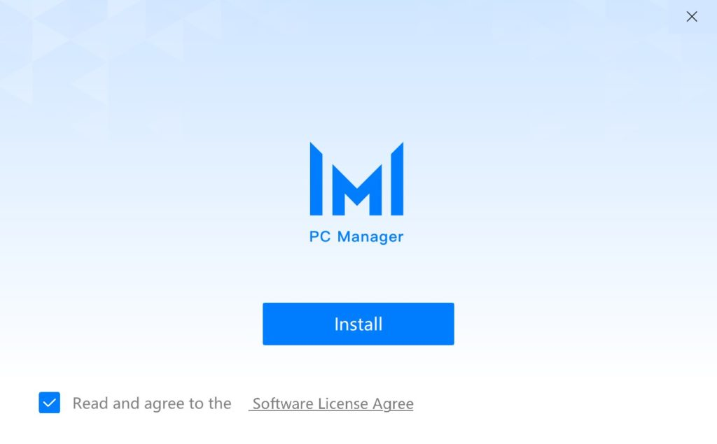 PC Manager 11 Installation