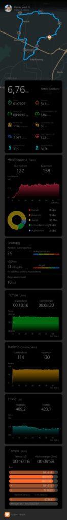 #Rainerwirdfit - Teil 9 - Nordic Walking - Health App 5