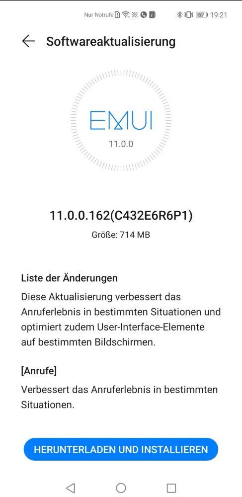 HUAWEI Mate 40 Pro Firmwareupdate 11.0.0.162 Changelog