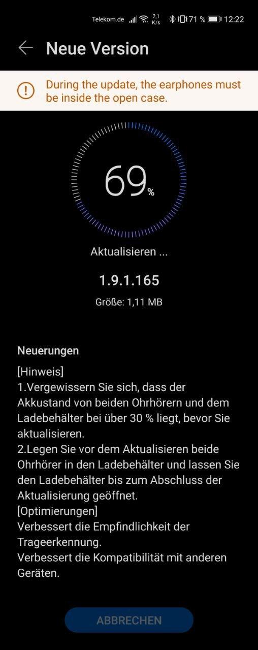 Huawei Freebuds 3i Update