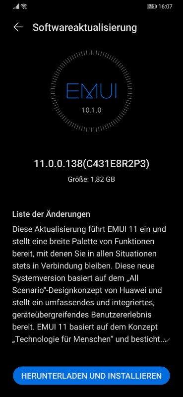 P30/P30 Pro (NE) - EMUI 11 finale Version ist da (Update) 1