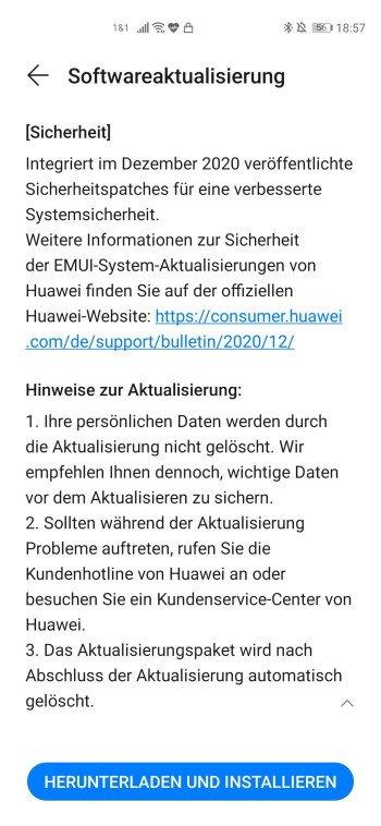 HUAWEI P40 Pro Firmware Update