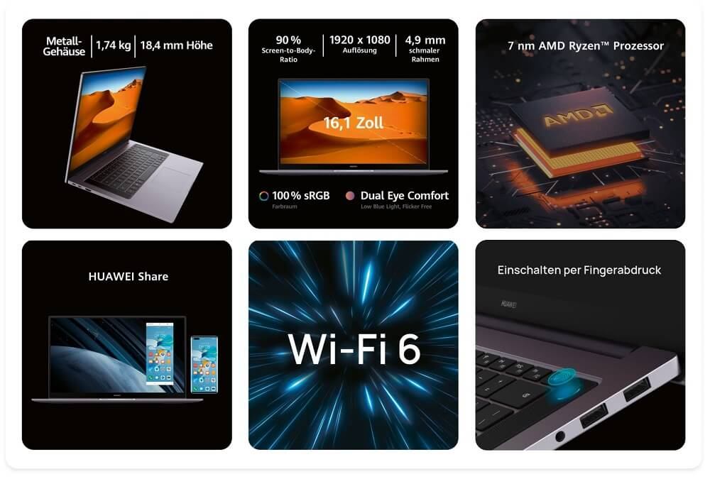 HUAWEI MateBook D16 Keyfacts