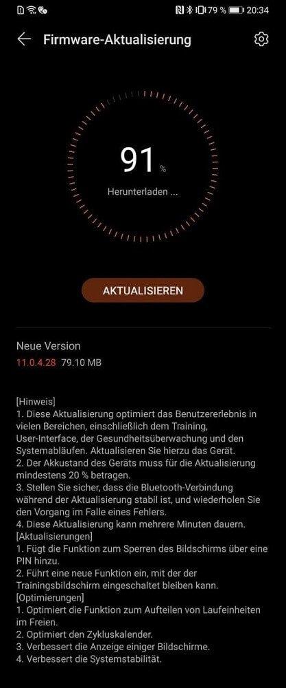 HUAWEI Watch GT 2 Pro Firmwareupdate Changelog