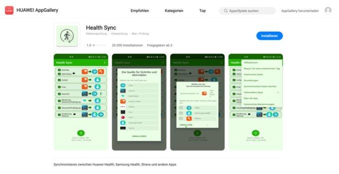 Health Sync - Daten zwischen HUAWEI Health und Strava synchronisieren