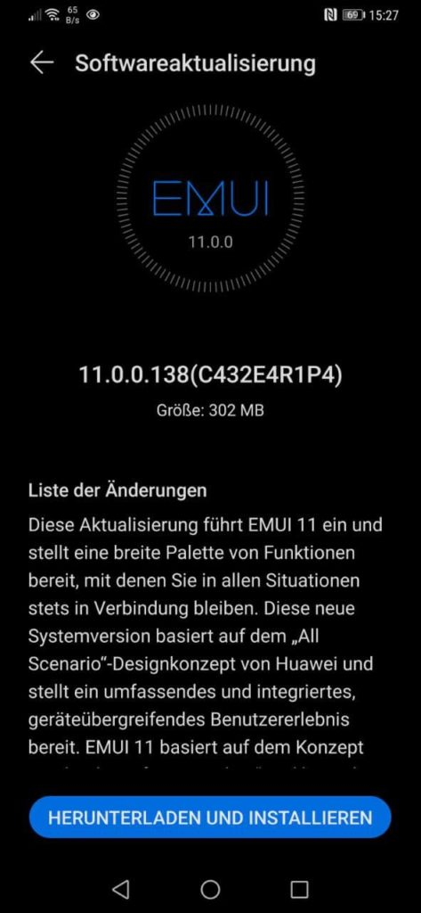 Mate 20 und Mate 20 Pro erhalten das EMUI 11 Update final 5