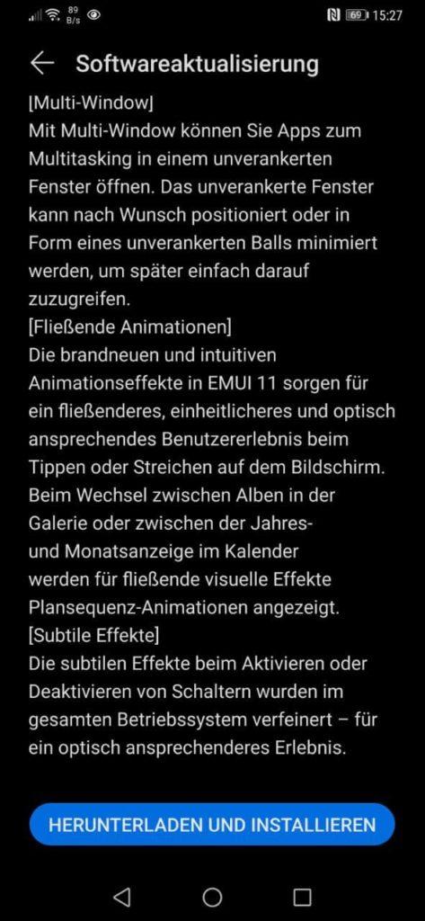 Mate 20 und Mate 20 Pro erhalten das EMUI 11 Update final 7