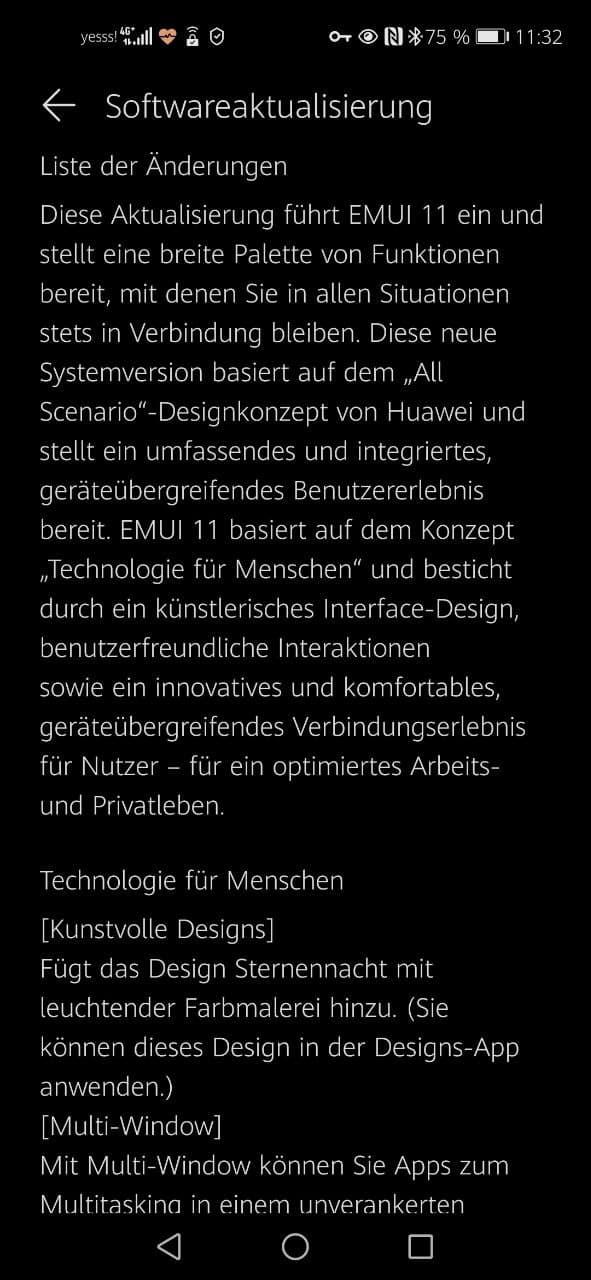 Nova 5T EMUI 11 Update
