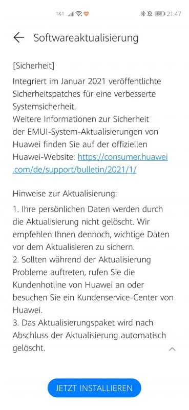Huawei P40 Pro Firmwareupdate - Übersicht 15