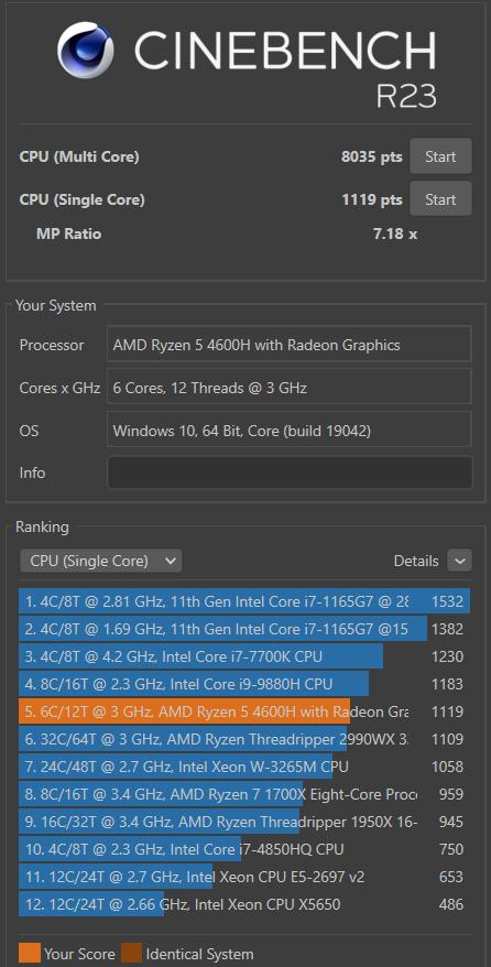 HUAWEI MateBook D16 Test Cinebench Benchmark