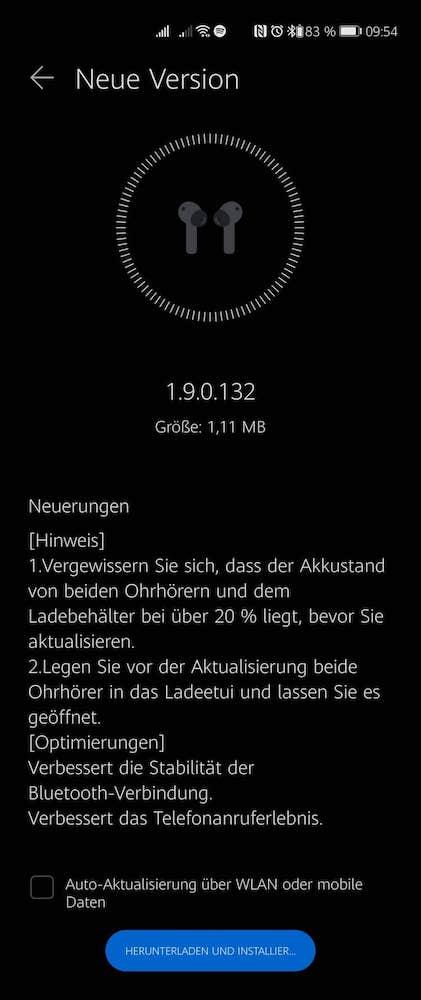 HUAWEI FreeBuds 4i - Neues Firmware Update 3