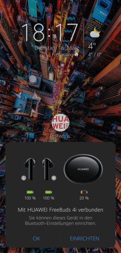 HUAWEI FreeBuds 4i Test - Koppeln erfolgreich - Bluetooth einrichten