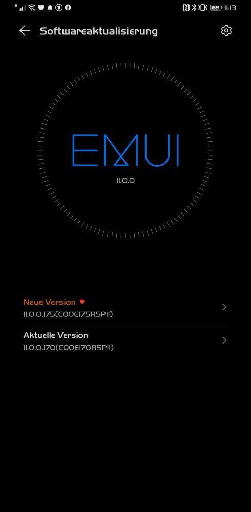 HUAWEI Mate 30 Pro Firmwareupdate 11.0.0.175