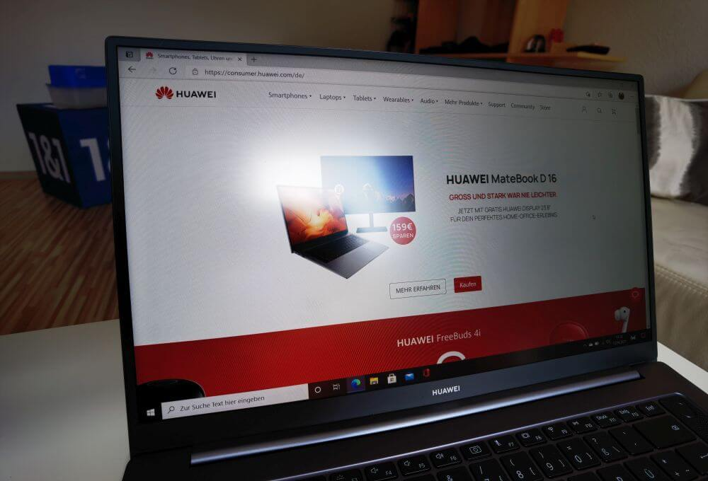 HUAWEI MateBook D16 Test Display