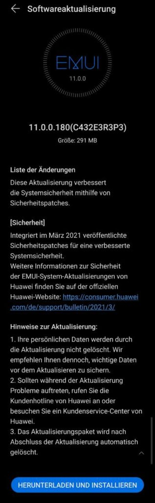 Huawei P40 Pro Firmwareupdate - Übersicht 10