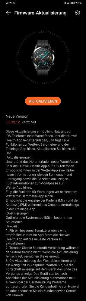 HUAWEI Watch GT 2 Update Changelog