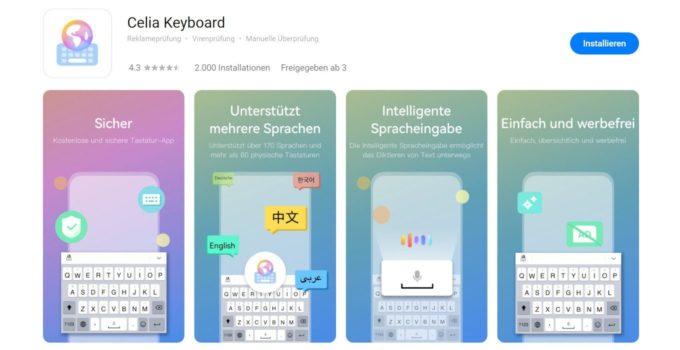 HUAWEI Tastatur mit Spracherkennung  neu in der AppGallery