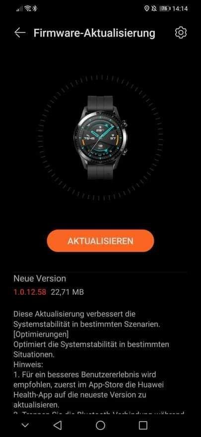 Huawei Watch GT 2 erhält Update mit Optimierungen 1