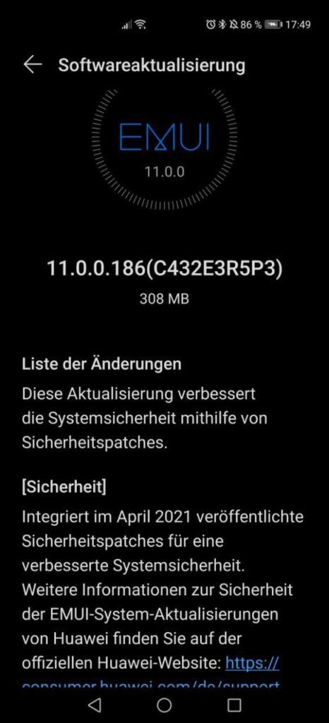 Huawei P40 Pro Firmwareupdate - Übersicht 6