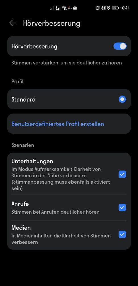 HUAWEI Freebuds Pro Update kundenspezifische Hörfunktion