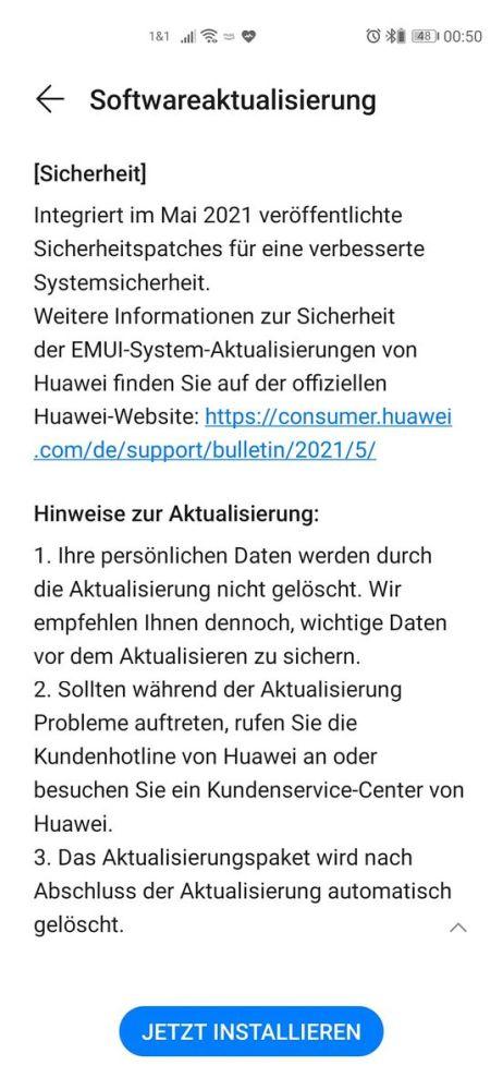 Huawei P40 Pro Firmwareupdate - Übersicht 4