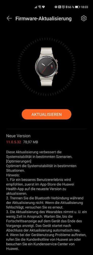 HUAWEI Watch GT2 Porsche Design Firmware Update_11_0_5_32