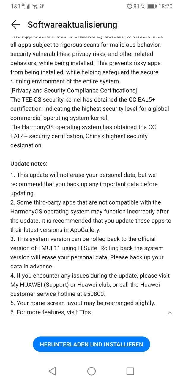 HarmonyOS-Update