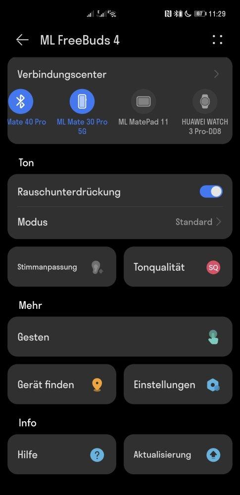 HUAWEI Freebuds 4 Test AI Life App Einstellungen