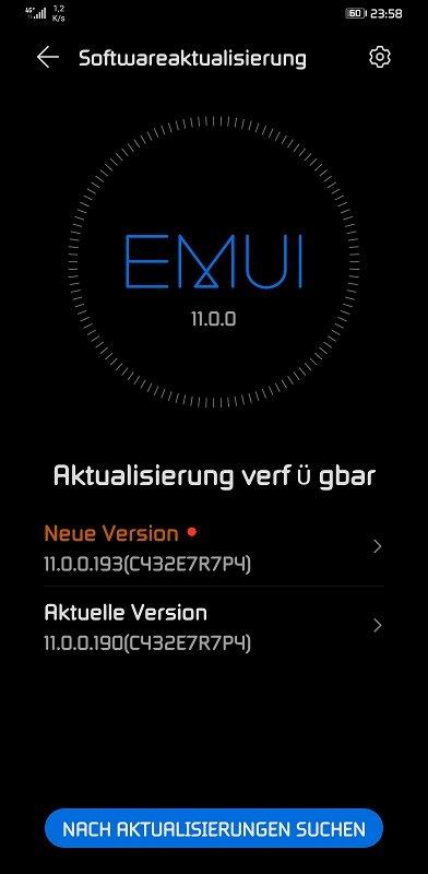 HUAWEI Mate 30 Pro Firmwareupdate 11.0.0.193