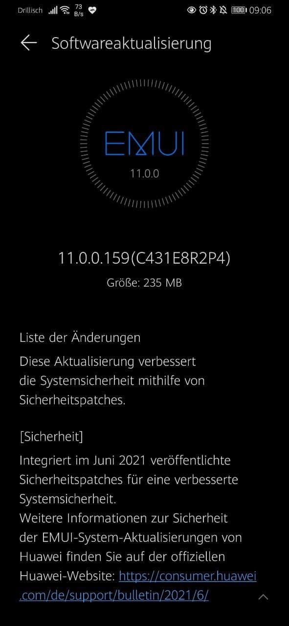 Huawei P30 und P30 Pro erhalten das Update mit dem Junipatch 1