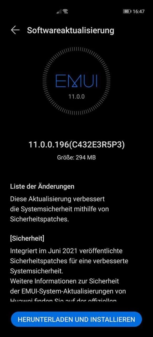 Huawei P40 Pro Firmwareupdate - Übersicht 1