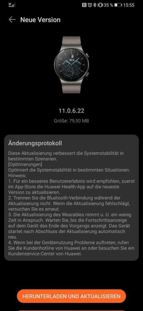 Watch GT2 Pro erhält Firmware Update für September 2021 1