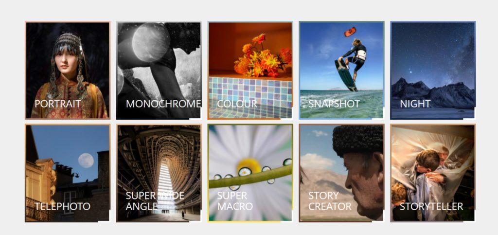 HUAWEI NEXT IMAGE Awards 2021 Kategorien