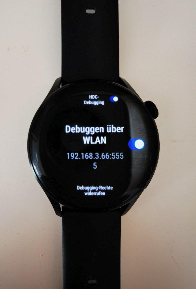 HUAWEI Watch 3 Apps installieren ADB Debugging