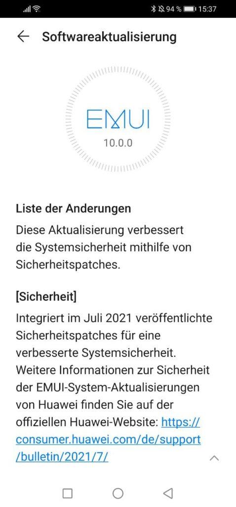 HUAWEI P30 Lite 10.0.0.491 Changelog 2