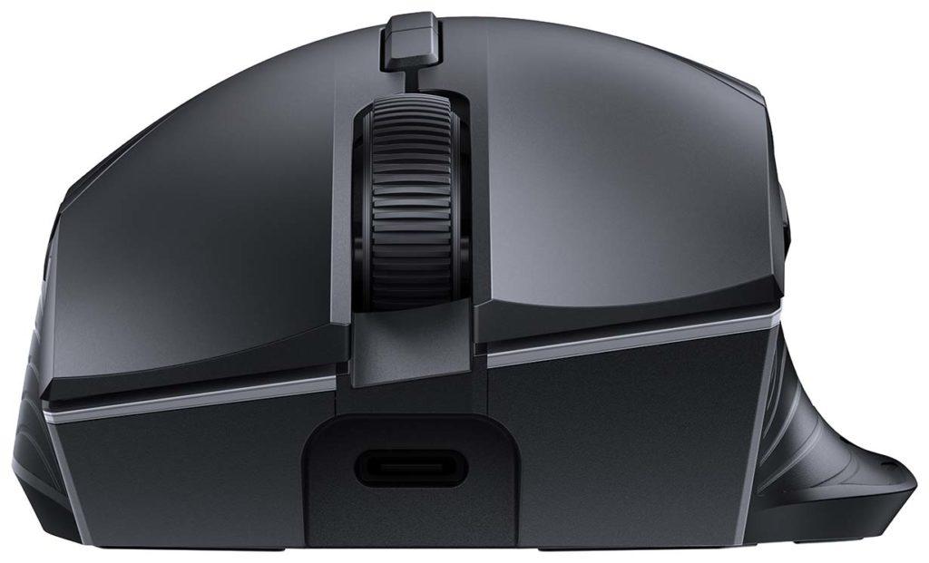 Die Ladebuchse bei der HUAWEI Wireless Mouse GT