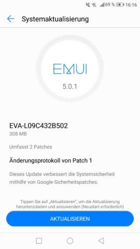 Huawei P9 Firmware Update EVA-L09C432B502