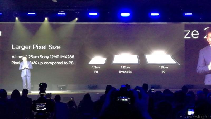 Huawei P9 - Präsentation - London - Pixel Größe