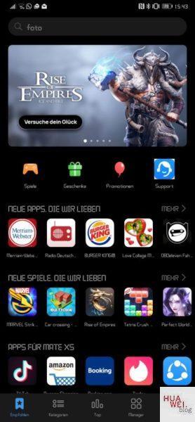 #MarcoMotzt: HUAWEI Game Center App veröffentlicht 1