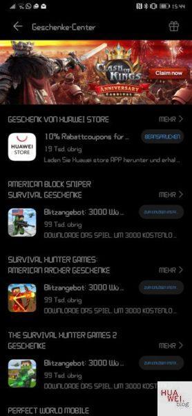 #MarcoMotzt: HUAWEI Game Center App veröffentlicht 10