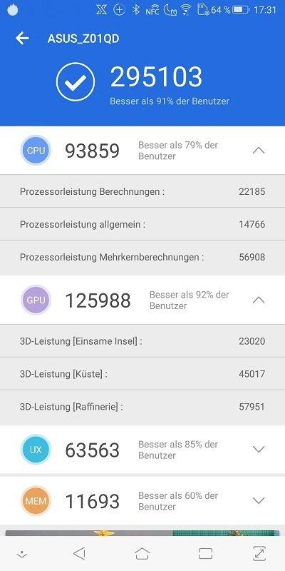 ASUS ROG Phone AnTuTu Benchmark