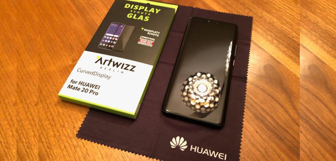 Artwizz Mate 20 Pro Panzerglas Displayglas Schutz Test